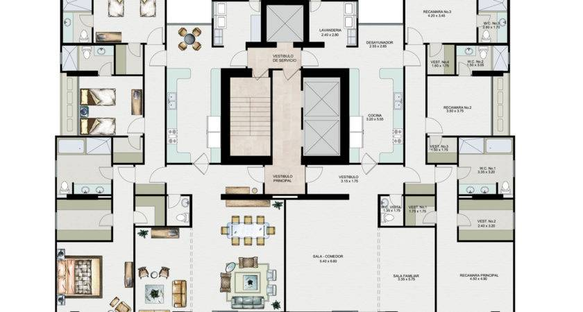 Interior Magnificent Apartment Plan Layout