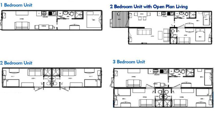 Intermodal Shipping Container Home Floor Plans Below
