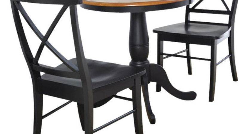 International Concepts Round Table Back Chairs