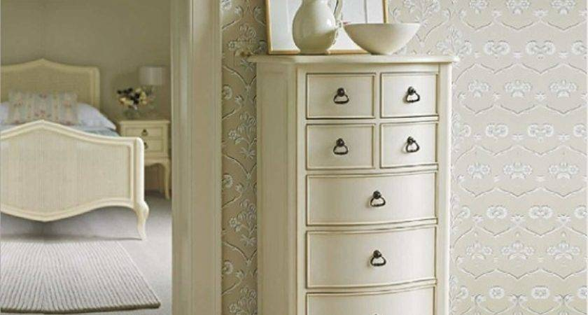 Ivory Tall Narrow Chest Drawers Bedroom Furniture