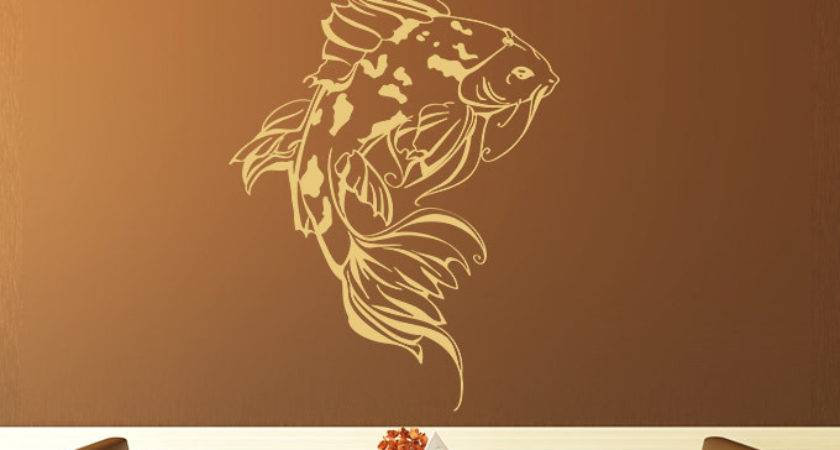 Japanese Koi Wall Decal Asian Style Decoration