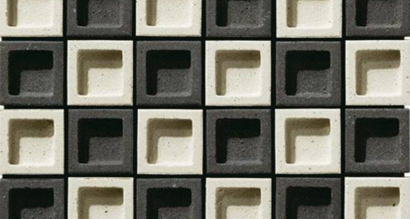 Japanese Wall Tiles Dent Cube Inax