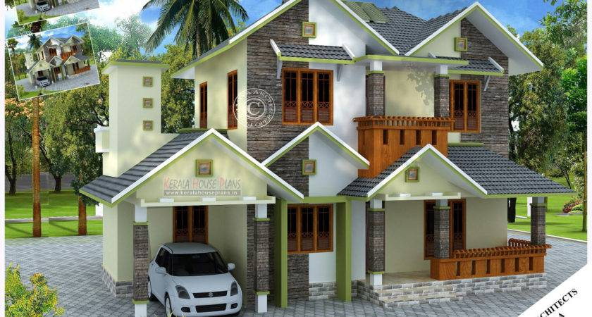 Kerala Village Style Slope Roof Home Design House