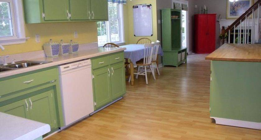 Kitchen Best Color Paint Cabinets Green