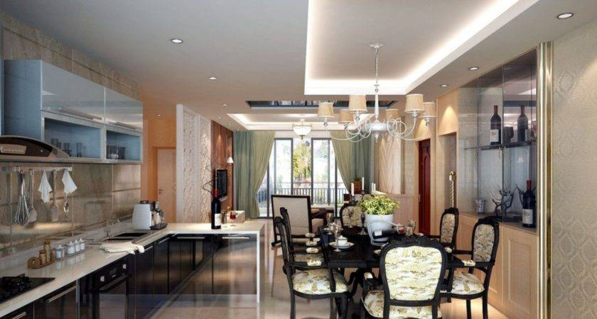 Kitchen Dining Room Living Layout