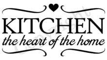 Kitchen Heart Home Wall Decal Vinyl Quote Decor