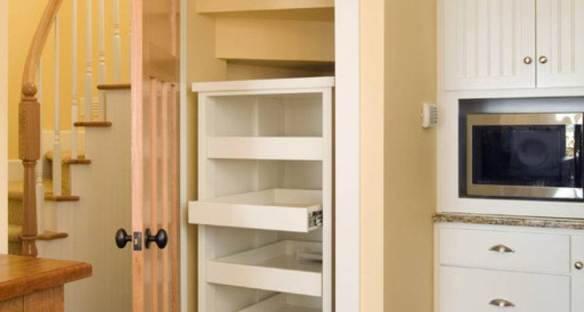 Kitchen Pantry Built Under Stair Pullout