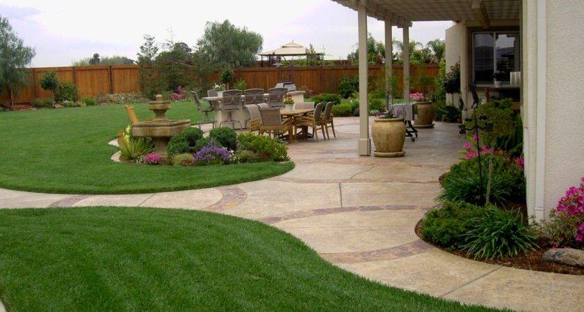 Large Backyard Landscaping Design Ideas Outdoors Home