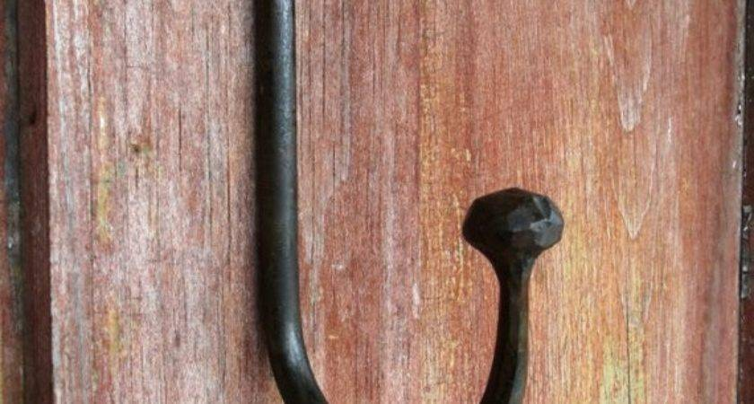 Large Ball End Wall Hook Furnacebrookiron Etsy