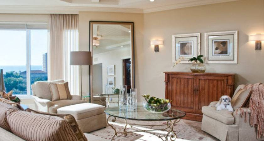Large Mirrors Contemporary Living Rooms