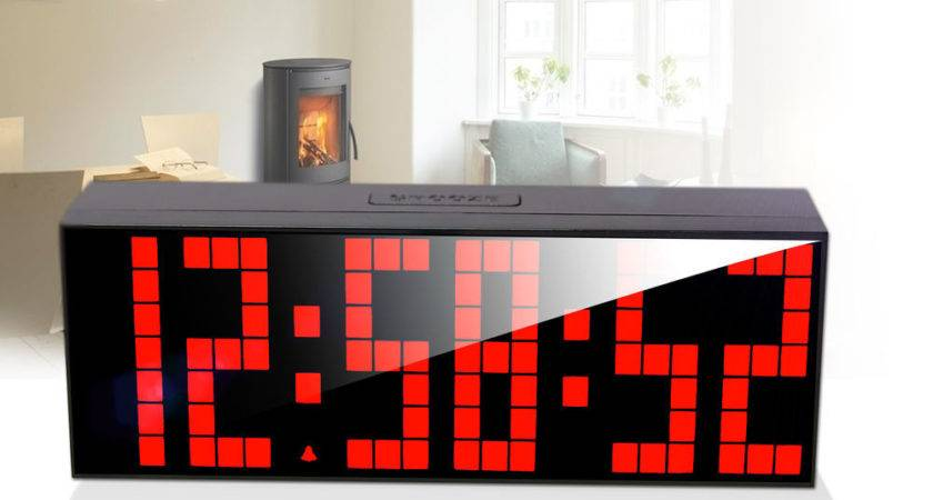 Large Remote Led Digital Wall Clock Table Duai Alarm Timer
