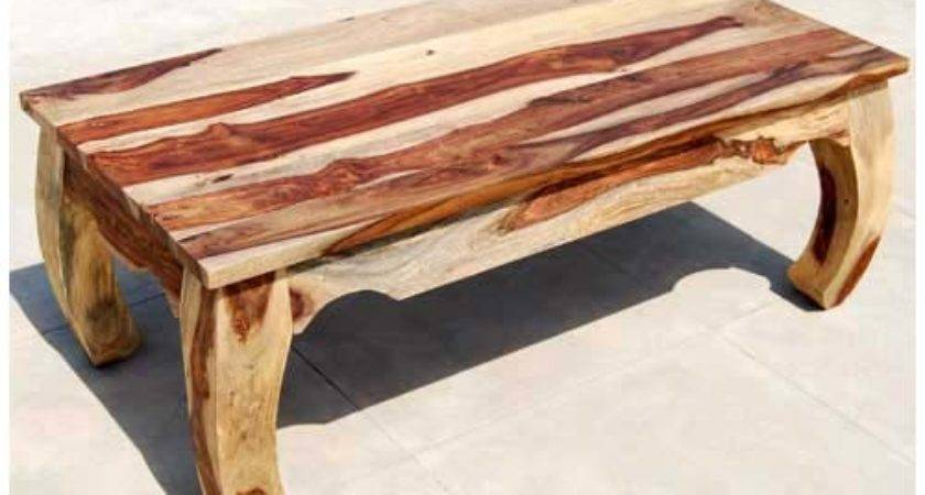 Large Rustic Unique Wood Cocktail Coffee Table
