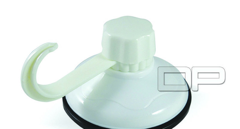Large White Suction Cup Hook Hanger Kitchen Bathroom