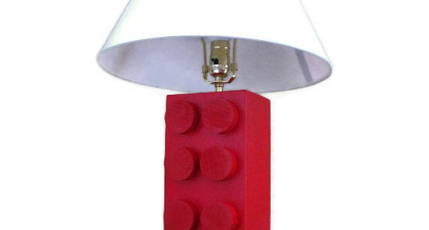 Lego Style Lamp Unique Kids Bedroom Decor