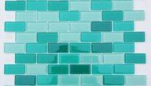 Light Sea Green Mix Subway Glass Mosaic Tile Bathroom