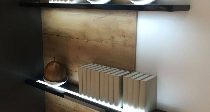Lighted Floating Wall Shelf