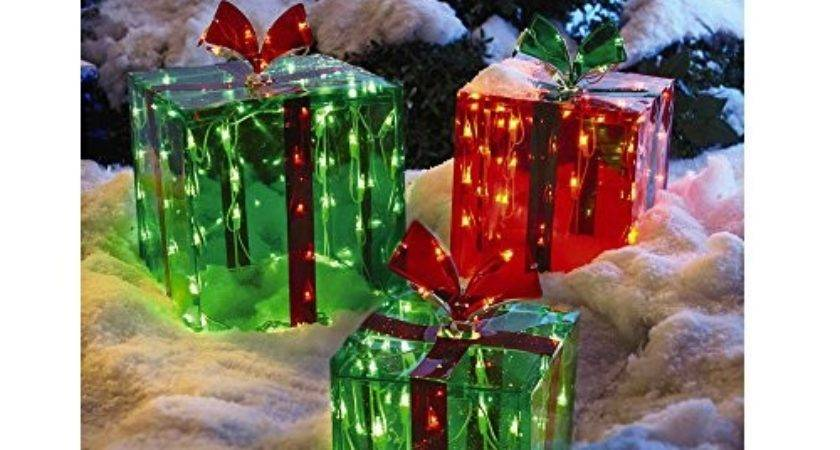 Lighted Gift Boxes Christmas Decoration Yard Decor