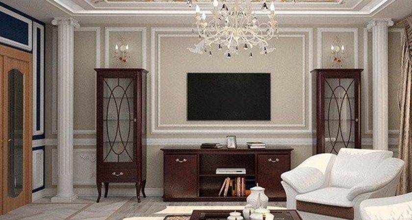 Living Room Decor Moulding Ideas Wall Decorating Crown Molding