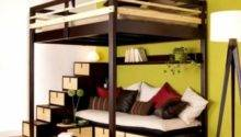 Loft Bed Contemporary Bedroom Design Small Space