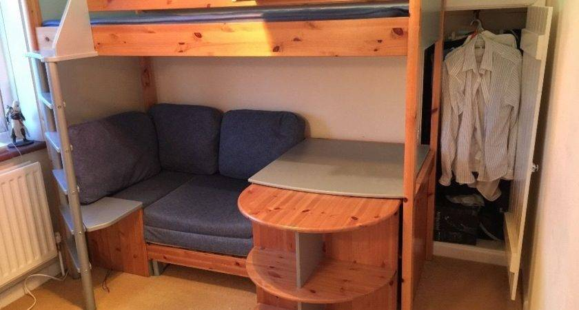 Loft Bed Couch Desk Bedroom Awesome Beds