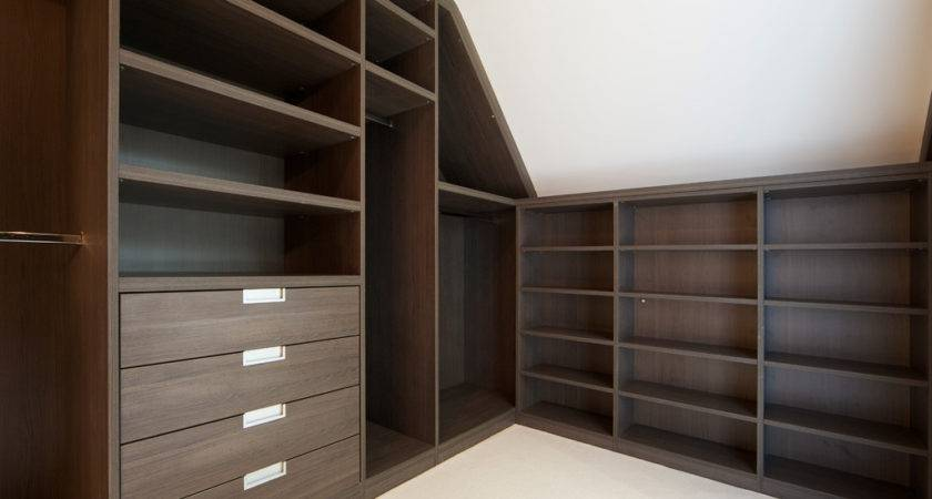 Loft Modern Walk Wardrobe Dark Elm Bespoke Furniture