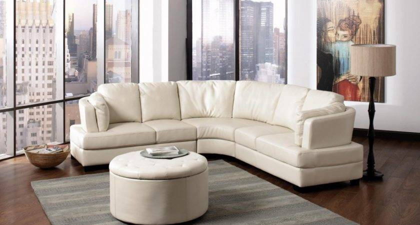 Luxurious Shape Leather Sectional Sofa High Back