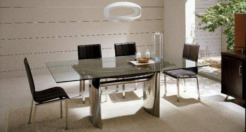 Luxury Glass Top Dining Table Design Italian Style