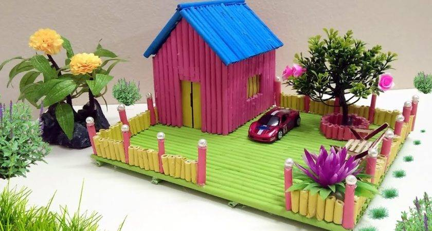 Make Paper House Building Beautiful Colourful