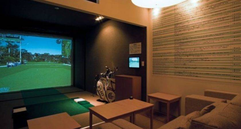 Man Cave Swing Golf Simulator Traditional Home