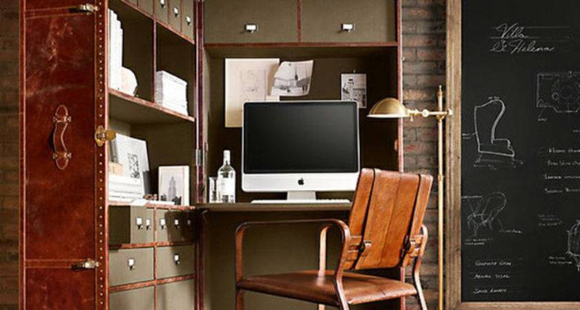 Masculine Home Office Leather Touch House Design