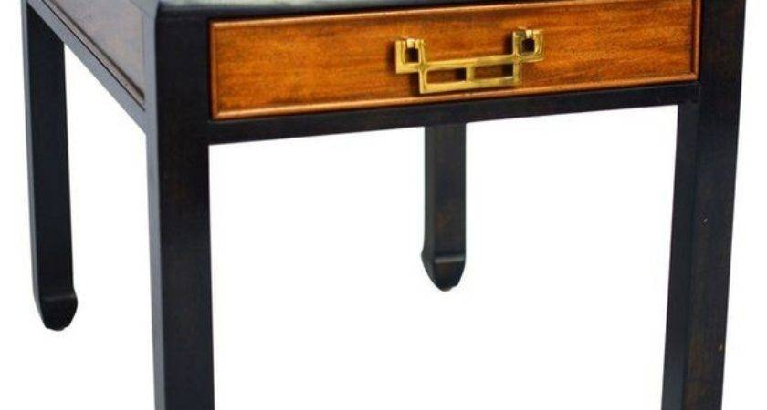 Mid Century Modern Chinoiserie Side Table Asian
