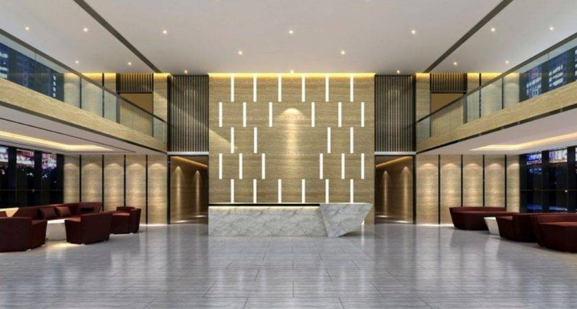 Minimalist Interior Decoration Hotel Lobby