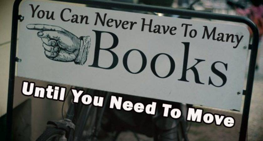 Minimize Your Book Collection Move Travel