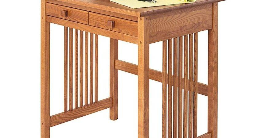 Mission Compact Desk Solid Wood Manchester