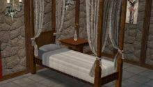Mod Sims Single Canopy Bed