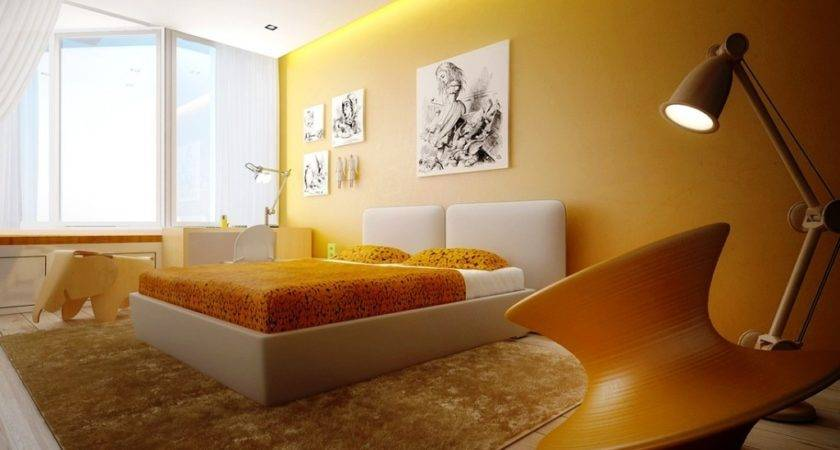Modern Bedroom Yellow Color Furniture