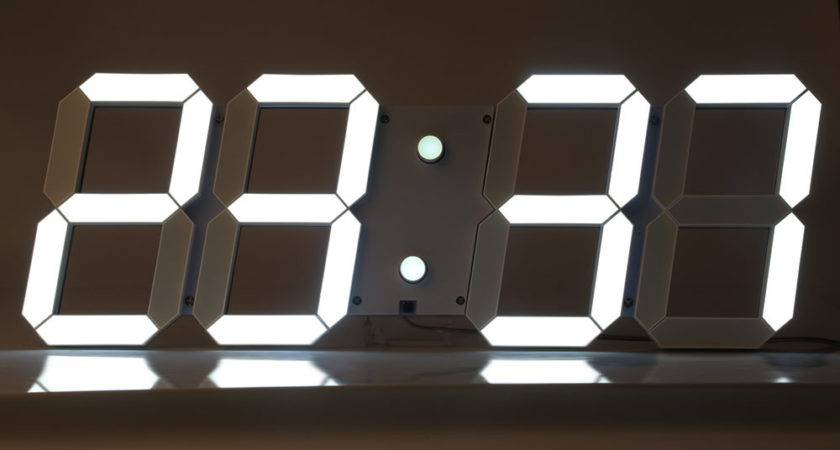 Modern Big Led Digital Wall Clock End