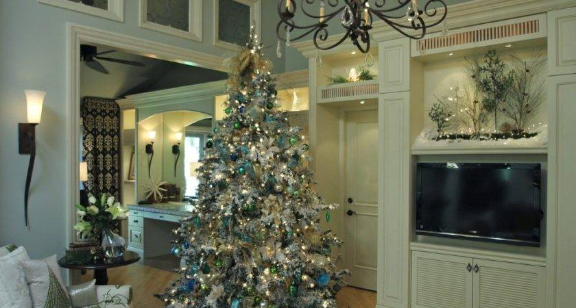 Modern Christmas Decorations Spaces Transitional