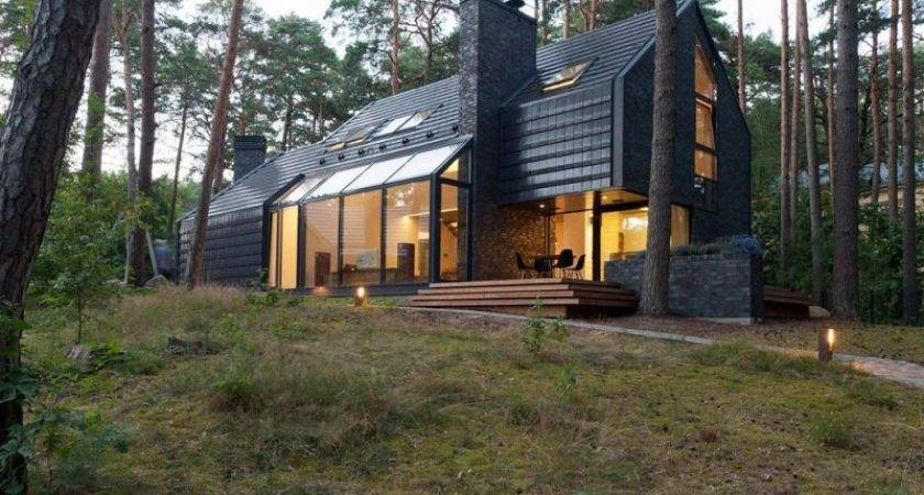 Modern Forest Homes Take Close Nature