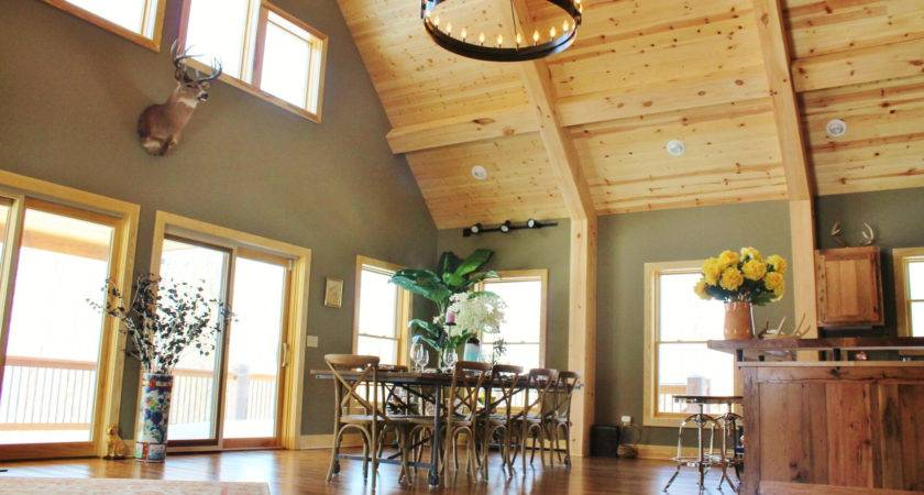 Modern Homes Exposed Timbers Dwell Living Room