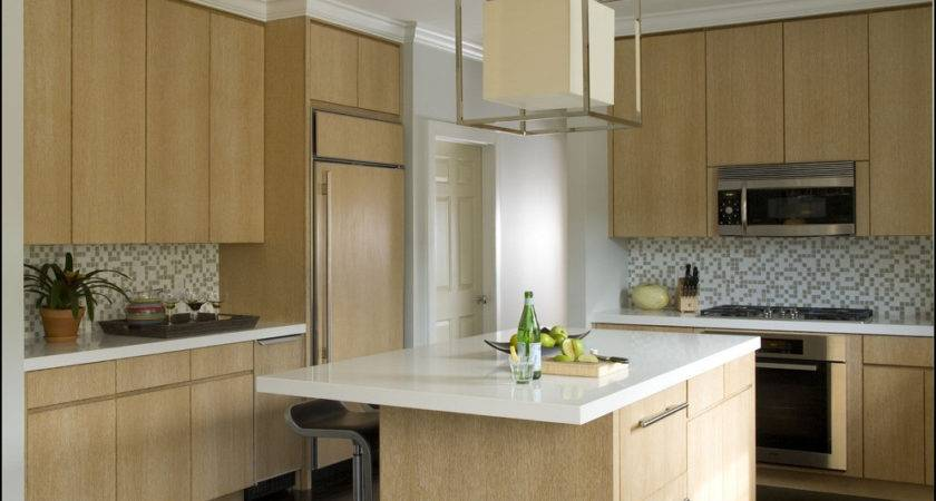 Modern Kitchen Colors Light Wood Cabinets