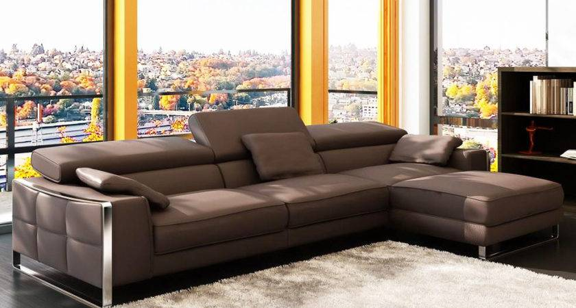 Modern Leather Sectional Sofa Flavio Sectionals