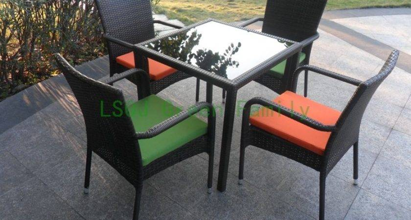 Modern Rattan Dining Table Set Furniture