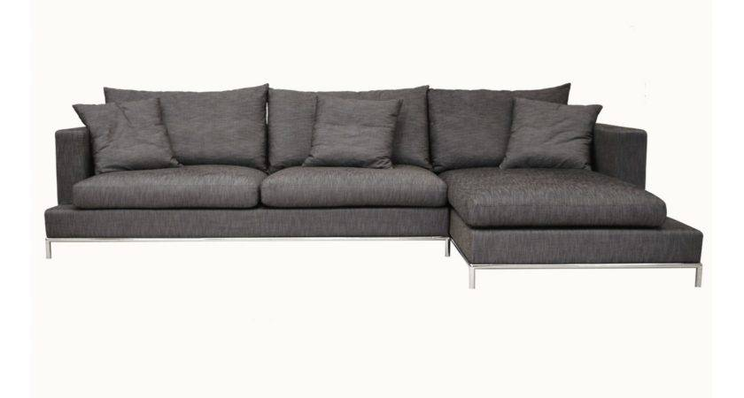 Modern Small Sectional Sofa Bonded Leather