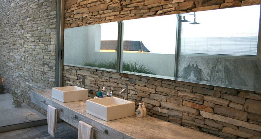 Modern Stone Wall House Water Elements Idesignarch