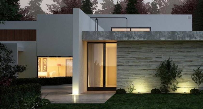 Modern Stucco House