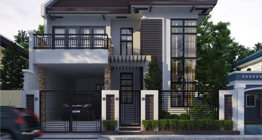 Modern Terrace House Design Two Storey