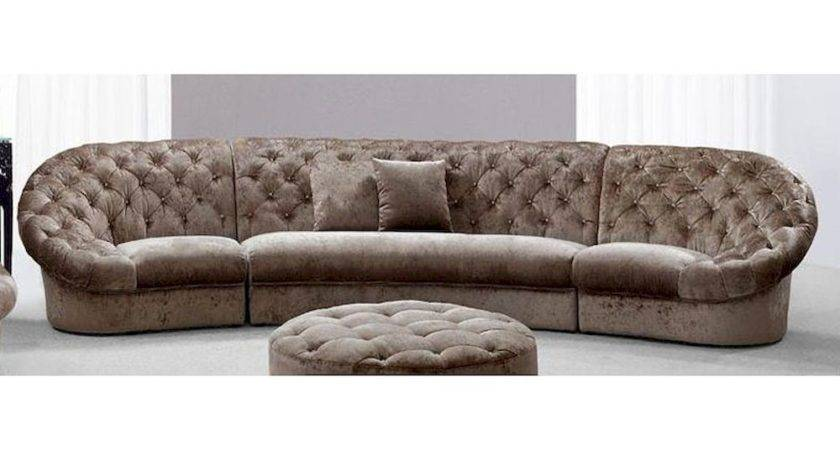 Modern Tufted Fabric Sectional Sofa