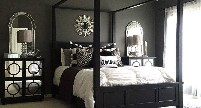 Monochromatic Color Cozy Bedroom Interior Decorating