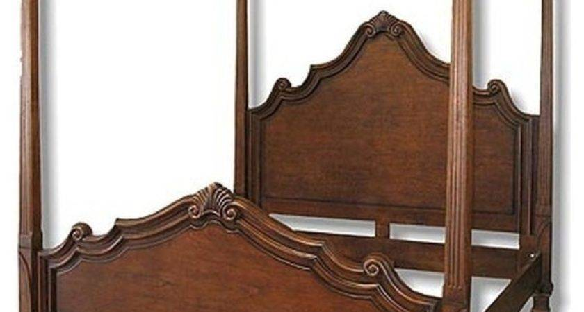New King Canopy Bed Italian Tuscan Scroll Traditional